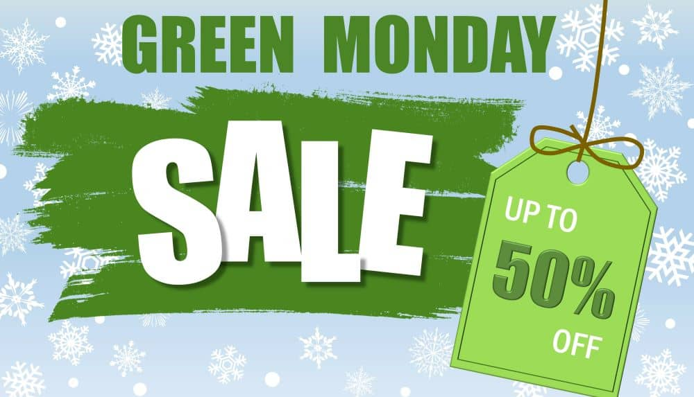 Green Monday is usually on the second Monday of December.